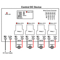 3 Miles Wireless Lora Remote Control Switch 4 Channel DC Input Output (Model: 0020671)
