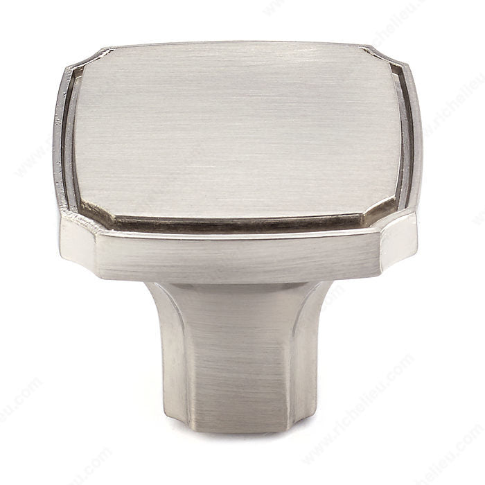 (Pack of 10)-Square knob  Transitional Metal Knob - 770