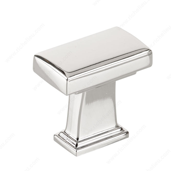 (Pack of 10)-Rectangular Knob Transitional Metal Knob - BP8695