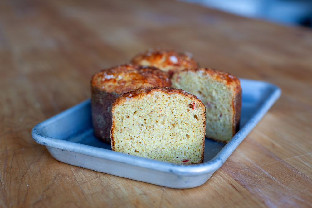 Load image into Gallery viewer, Cheddar Pimento Corn Muffin