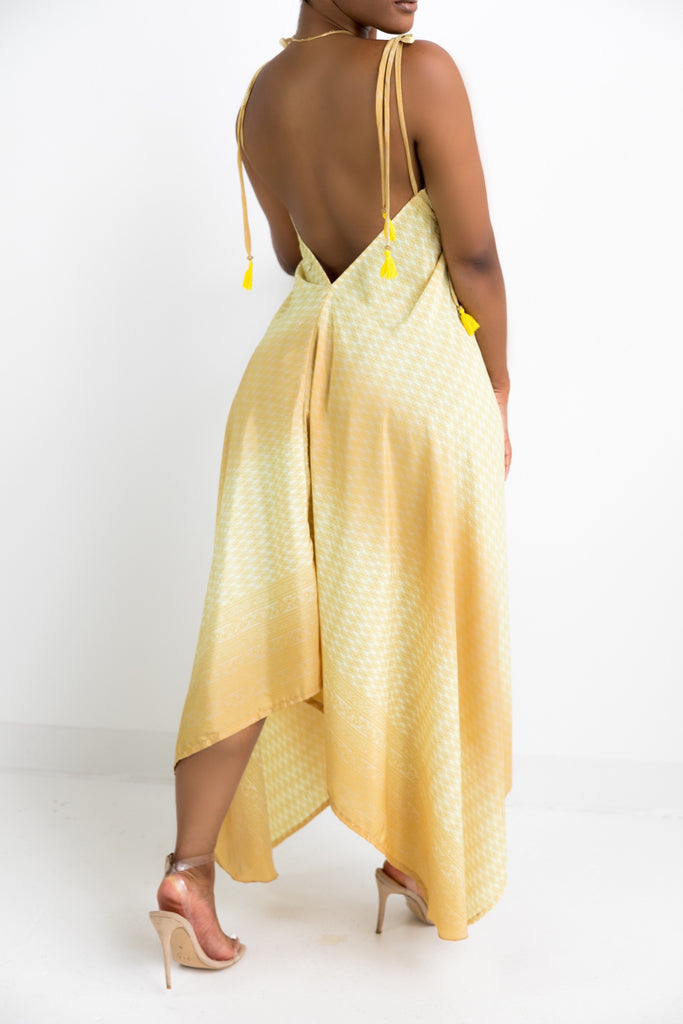 Morocco | Gold/Yellow Halter Dress