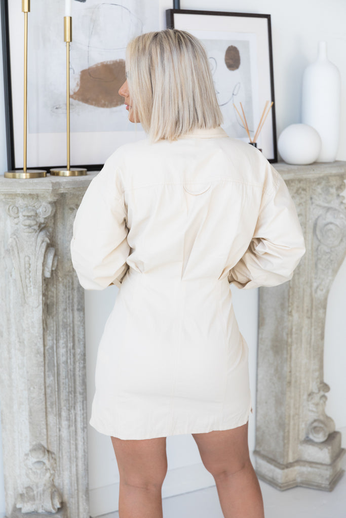 Cinched | Cream Corset Dress