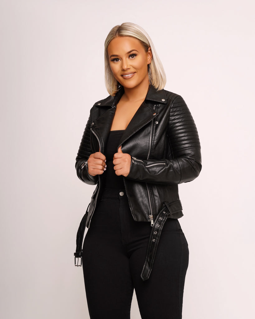 Vegan Leather Jacket | Two-Colors