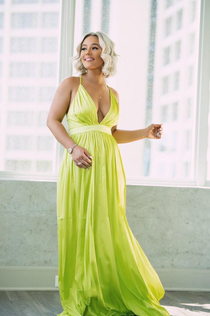 Lovers + Friends | b Maxi Dress (Lime)