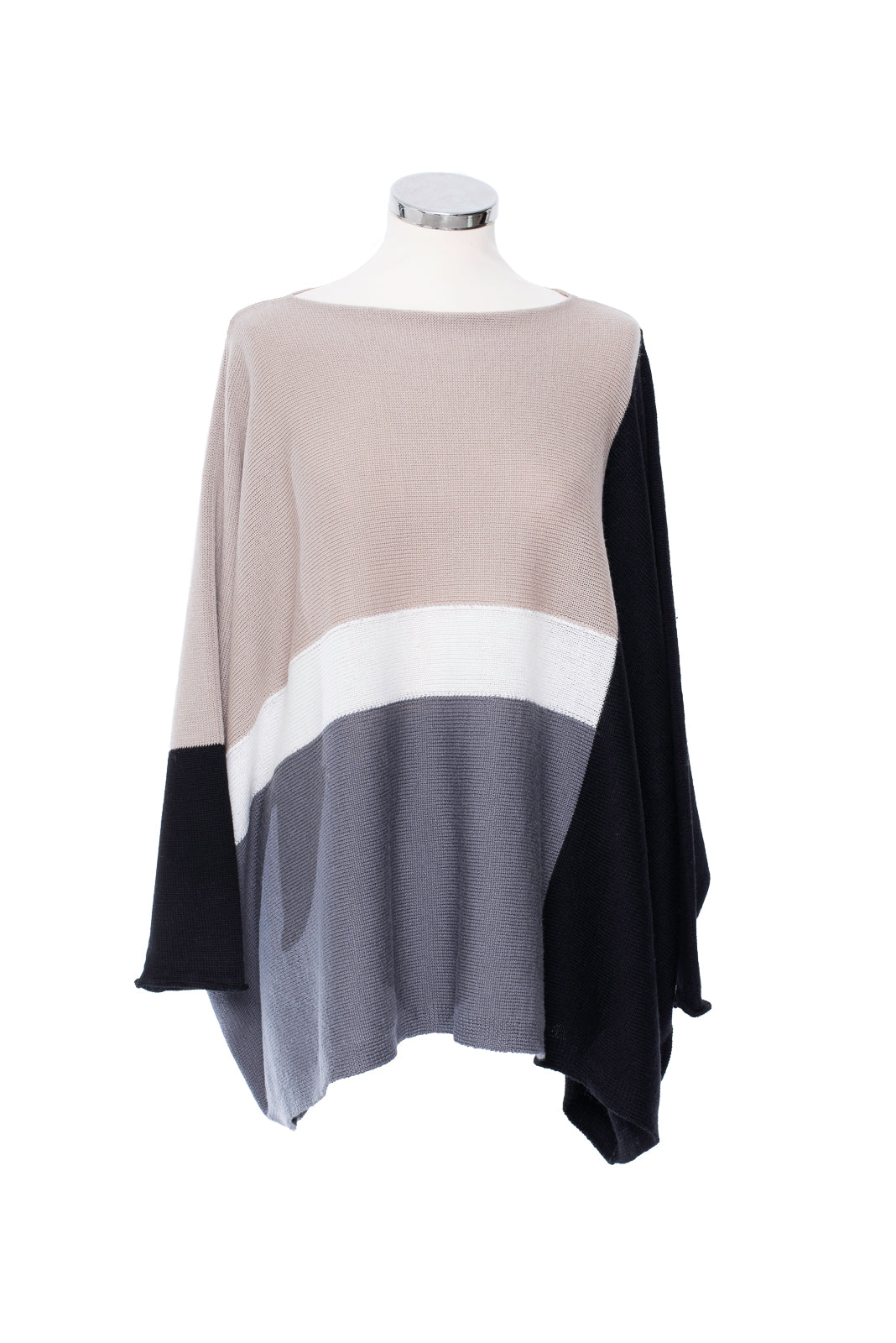 Taupe Intarsia Multi Colour Jumper