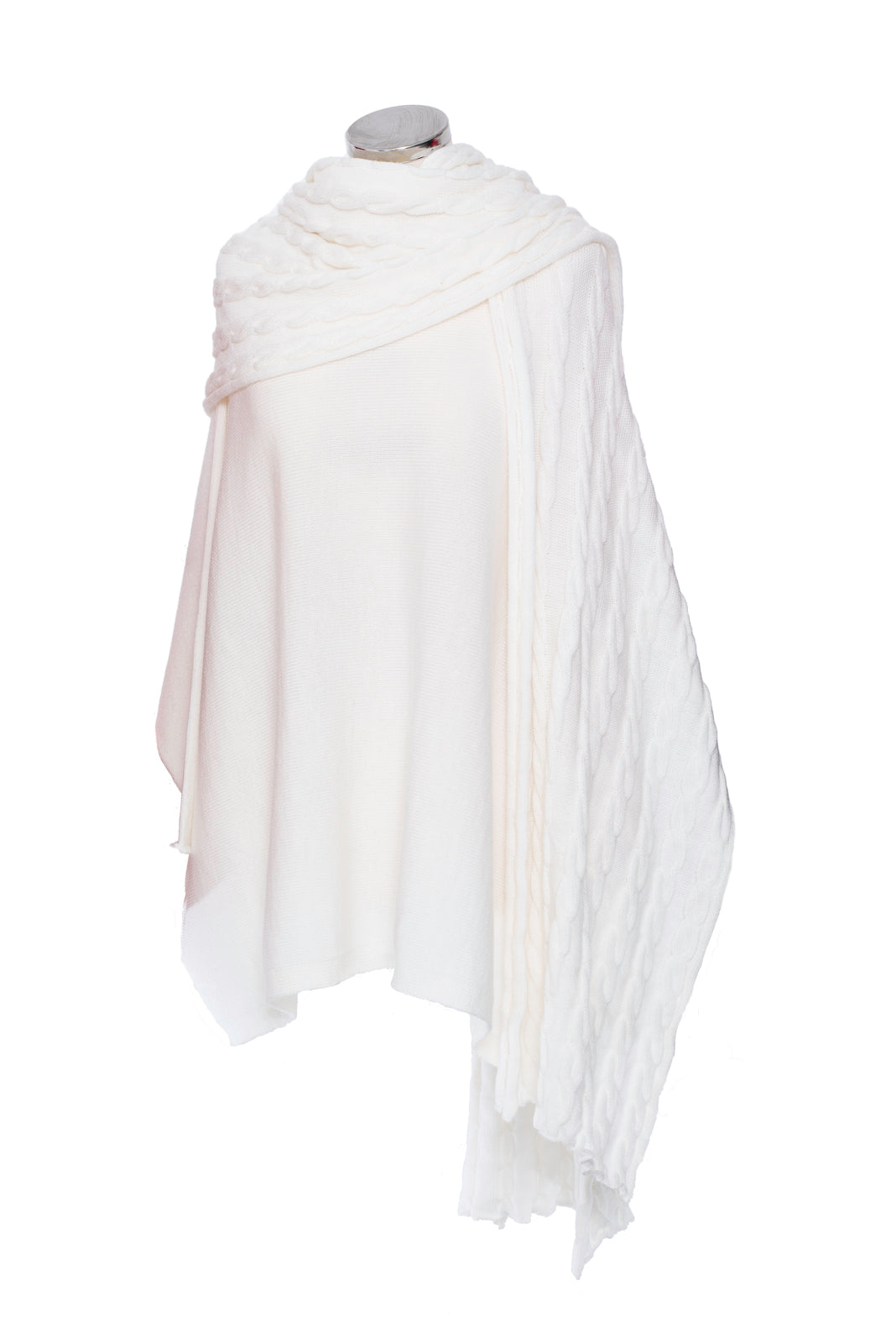 Winter White Cable Knit Scarf