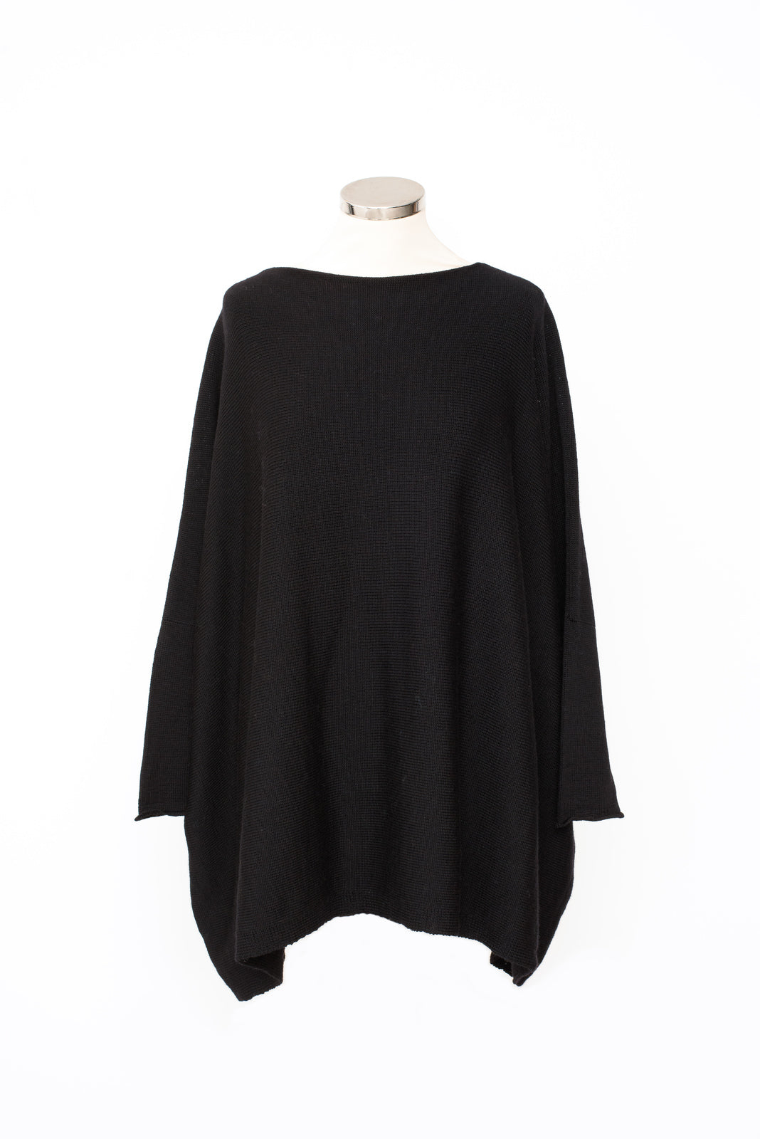 Slash Neck Sideways Shaped Sleeve Jumper