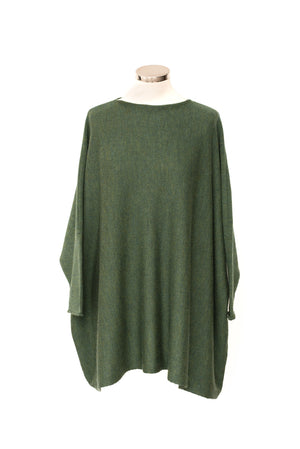Slash Neck Long Sideways Shaped Sleeve Jumper