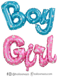 Letra Boy  Girl Baby Shower 35X84 cm Newborn