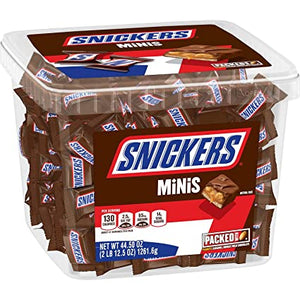 Caja Snickers Chocolate Mini Candy Bars (44.5oz.) 141 unidades