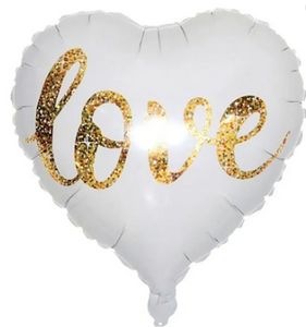 Globo Corazon Blanco Love 18 INCH