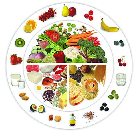 The mediterranean diet plate