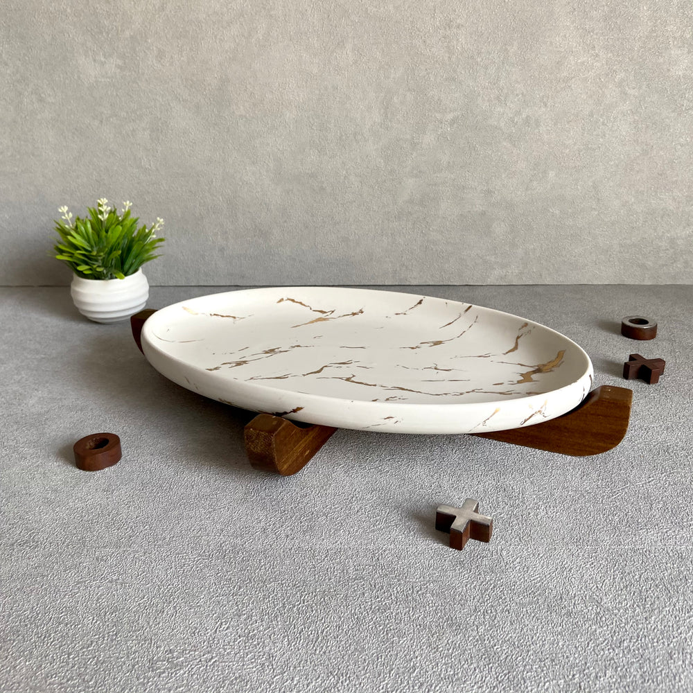 Ford Marble Finish Oval Platter