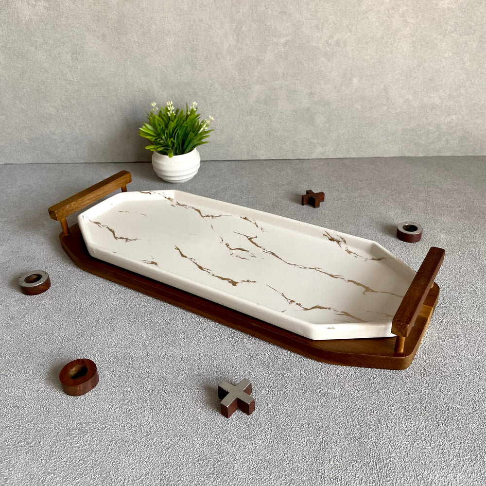 Ford Marble Finish Rectangular Platter