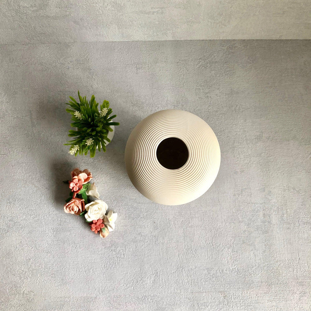 Ivy White Ceramic Vase