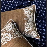 Zephyr Brown & Ivory Cushion Cover