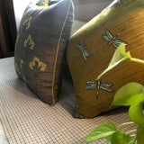 Aria Grey & Yellow Cushion Cover