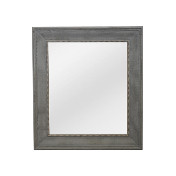 PALE GREY HOUSE CREAME FRAME WITH FLAT MIRROR