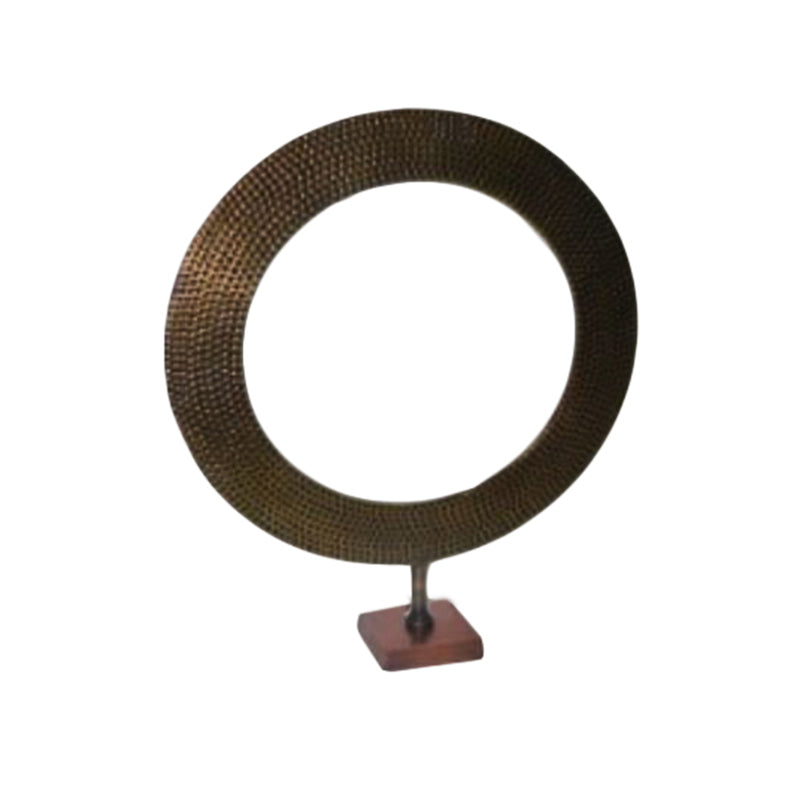 ALUMINIUM DECORATIVE REST BRASS ANTIQUE BASE BRASS ANTIQUE