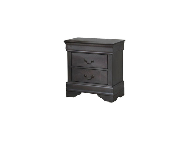 NIGHTSTAND 2 DRAWERS FINISH GREY