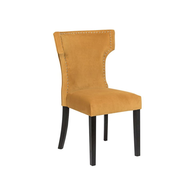 DINING CHAIR RUBBER WOOD LEGS IN DARK BROWN COLOR