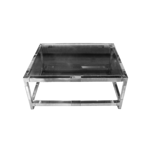 *****MIRROR TABLE CLEAR MIRROR ON FRAME WITH SILVER STAINLESS STEEL 1000*1000*450