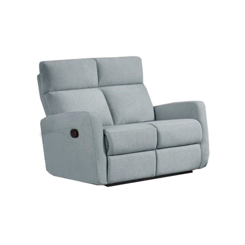 SOFA RECLINABLE DE 2 ASIENTOS EN TELA CON SISTEMA MANUAL