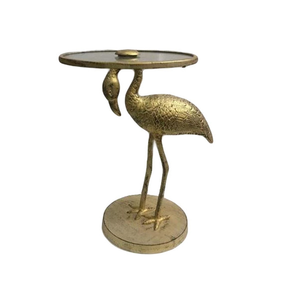 FLAMINGO ACCENT TABLE GOLD