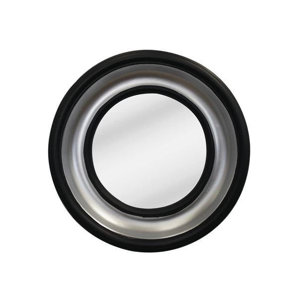 SILVER BLACK FRAME WITH CONVEX MIRROR