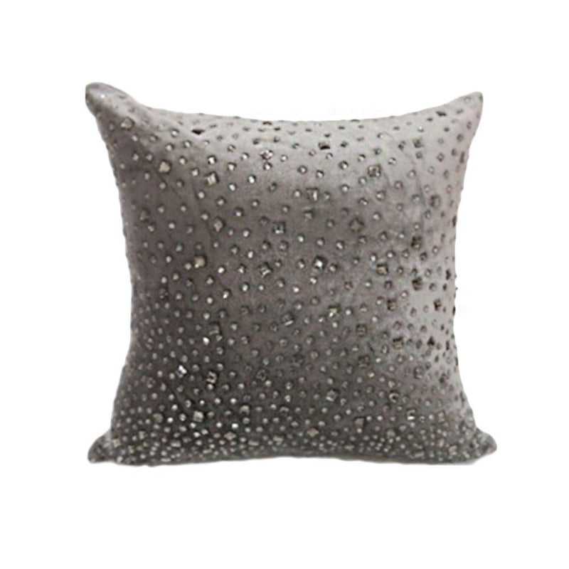 VISCOS EVELVET BEADED CUSHION 50X50