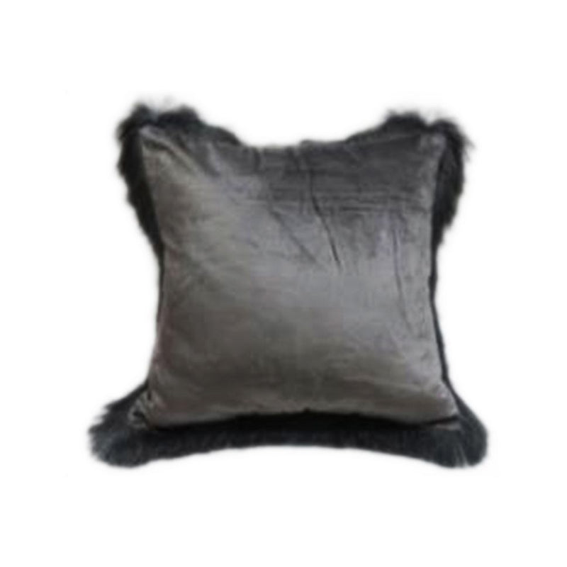 VISCOSE VELVET FRILLS BORDER CUSHION