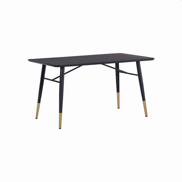 DINING TABLE MDF WITH OAK AND BLACK PAINTING