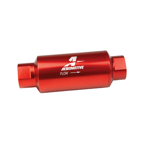 BJ 07160-Aeromotive Aluminum Inline Fuel Filter 100 Micron -10 AN