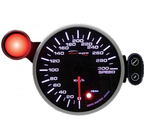 BJ 22017-Depo Racing Gauge -Speed Meter  Gauge- 95mm(KM)