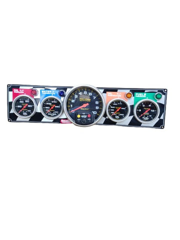 BJ 370036-QUICK CAR 4 GAUGE PANEL w/ 5IN TACH