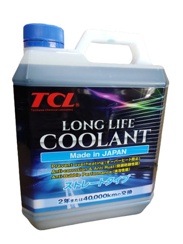 BJ 01303-TCL LONG LIFE COOLANT BLUE 4 LITER WATER