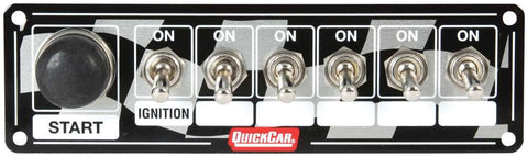BJ 370011-Quickcar 50-165 Flag Plate, 6 Switches & 1 Button