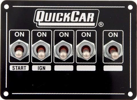 BJ 370033-Quickcar 50-7731 Extreme Single Ignition 5 Switch Panel