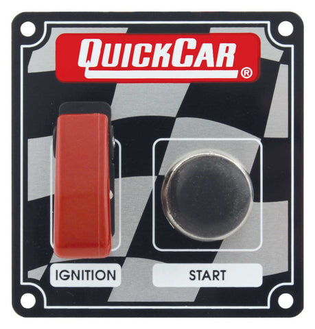 BJ 370034-Quickcar 50-103 Flag Plate, 1 Switch & 1 Button w/ Flip Cover