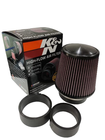 "BJ 14662-K&N UNIVERSAL AIR FILTER (3"",3.5"",4"")"