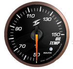 BJ 01078-DSD-CS Black Dial Oil Temp