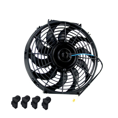 BJ 14142-Universal 12″  Radiator And Oil Cooler  Cooling Fan 12V 80W