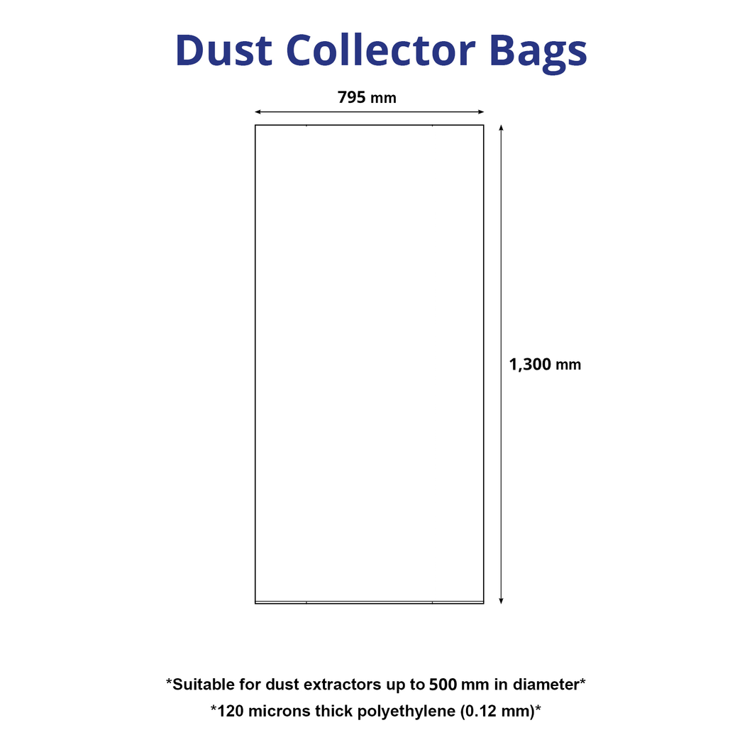 Plastic Dust Collector Bag for 500 mm Diameter