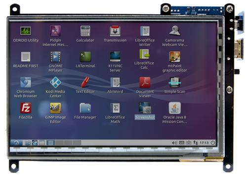 ODROID VU7 800x480p 7 inch HDMI Multi Touch Display