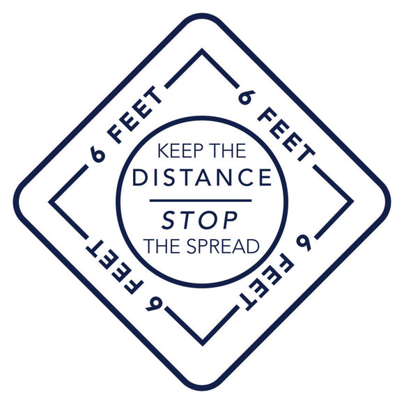 KEEP THE DISTANCE FLOOR DECAL