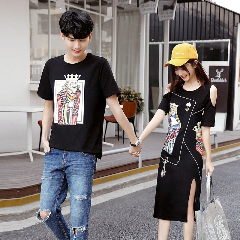 Cards King Queen Couple T-Shirt