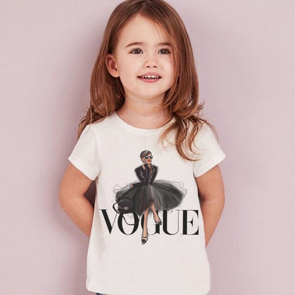 VOGUE Princess Print Girls Tshirt