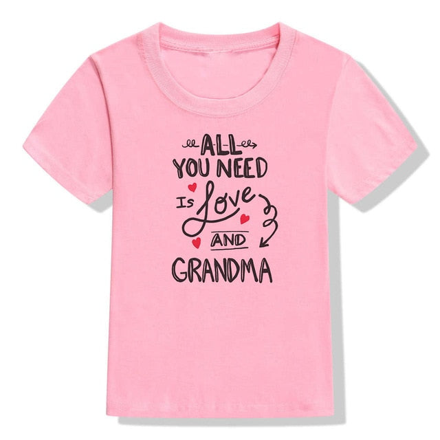Back Off I Have A Crazy Grandma Kids Tshirt