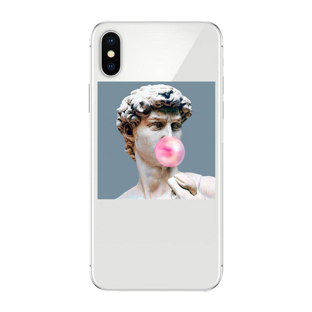 statue art Pattern Soft Phone Case for iPhone