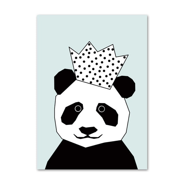 Simple Nordic Style Prints Cartoon Panda Posters